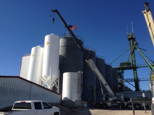 3200 bushel smooth-wall bin, Feed mill
